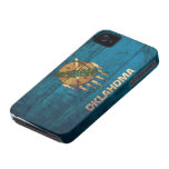 Old Wooden Oklahoma Flag; iPhone 4 Cases