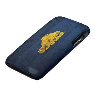 Old Wooden Oregon Flag (back) iPhone 3 Case-Mate Case