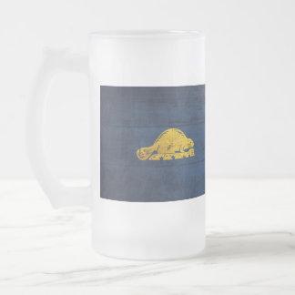 Old Wooden Oregon Flag (back) Mugs