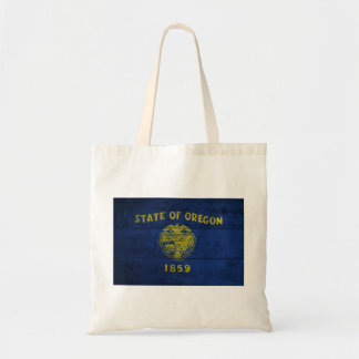 Old Wooden Oregon Flag; Tote Bags