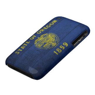 Old Wooden Oregon Flag; iPhone 3 Case-Mate Cases