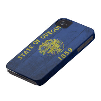 Old Wooden Oregon Flag; iPhone 4 Cases