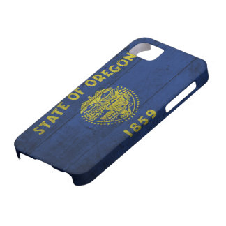 Old Wooden Oregon Flag; iPhone 5 Cover