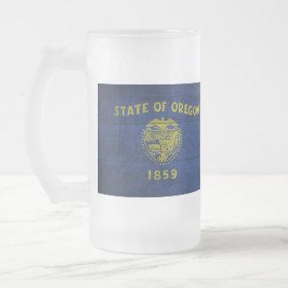 Old Wooden Oregon Flag; Mug