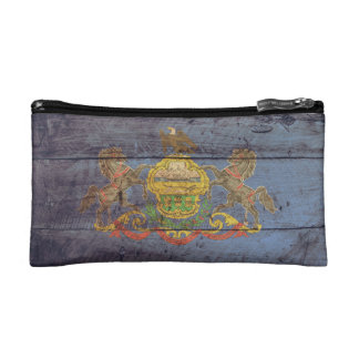 Old Wooden Pennsylvania Flag; Cosmetic Bag