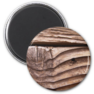 Old Wooden Planks Rough Knotty Brown Texture 2 Inch Round Magnet