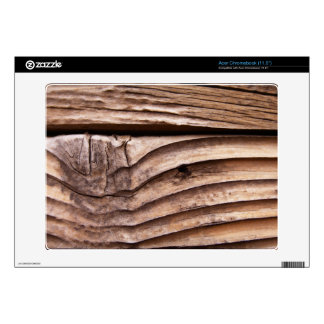 Old Wooden Planks Rough Knotty Brown Texture Acer Chromebook Decal