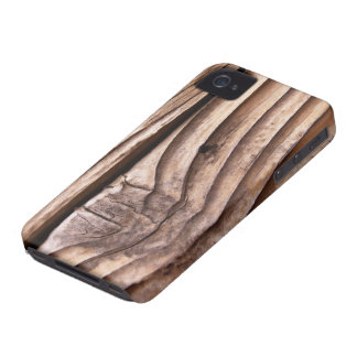 Old Wooden Planks Rough Knotty Brown Texture iPhone 4 Case-Mate Cases