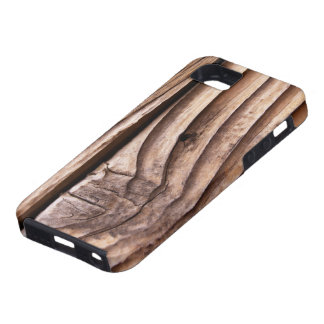 Old Wooden Planks Rough Knotty Brown Texture iPhone SE/5/5s Case