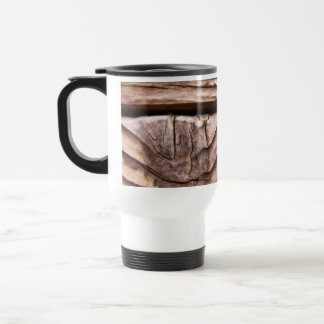Old Wooden Planks Rough Knotty Brown Texture Mugs