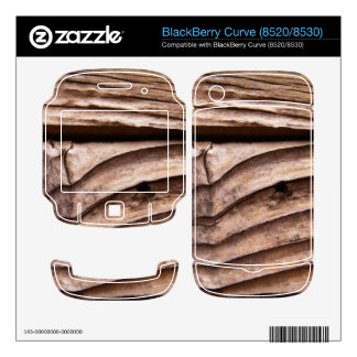Old Wooden Planks Rough Knotty Brown Texture BlackBerry Decals
