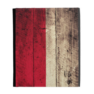 Old Wooden Poland Flag; iPad Folio Case