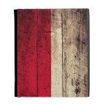 Old Wooden Poland Flag; iPad Folio Cases