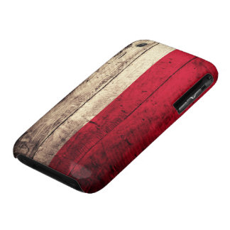 Old Wooden Poland Flag iPhone 3 Case-Mate Case