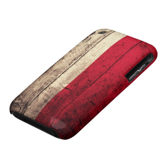 Old Wooden Poland Flag iPhone 3 Cover