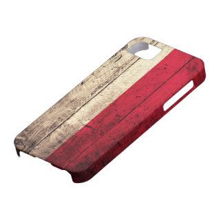 Old Wooden Poland Flag iPhone SE/5/5s Case
