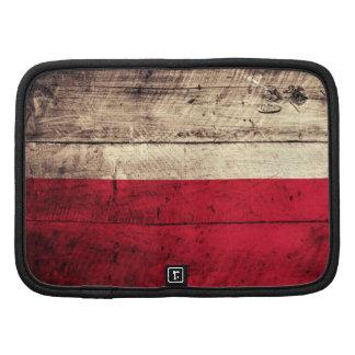 Old Wooden Poland Flag Planner