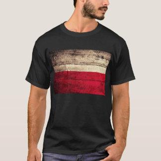 Old Wooden Poland Flag; T-Shirt