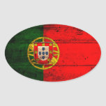 Old Wooden Portugal Flag Sticker