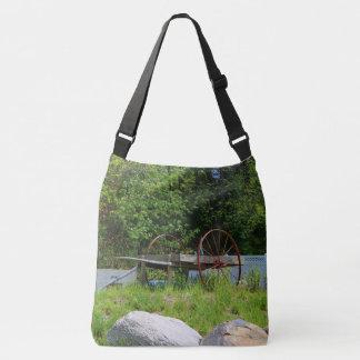 Old Wooden Pushcart Crossbody Bag
