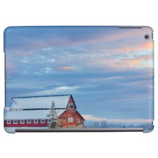 Old Wooden Red Barn In The Lower Valley iPad Air Covers