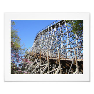 Old Wooden RollerCoaster Photo Print