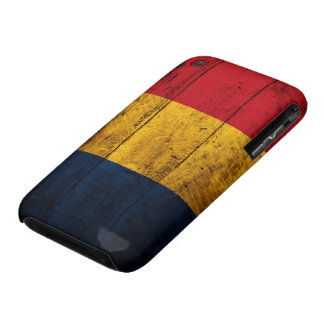 Old Wooden Romania Flag iPhone 3 Case