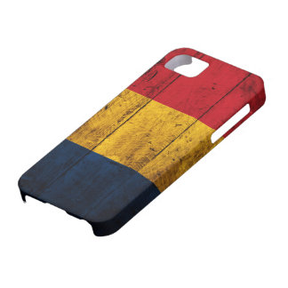Old Wooden Romania Flag iPhone 5 Cases