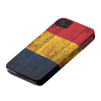 Old Wooden Romania Flag iPhone 4 Case-Mate Case