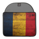 Old Wooden Romania Flag Sleeve For MacBook Pro