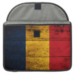 Old Wooden Romania Flag Sleeves For MacBooks