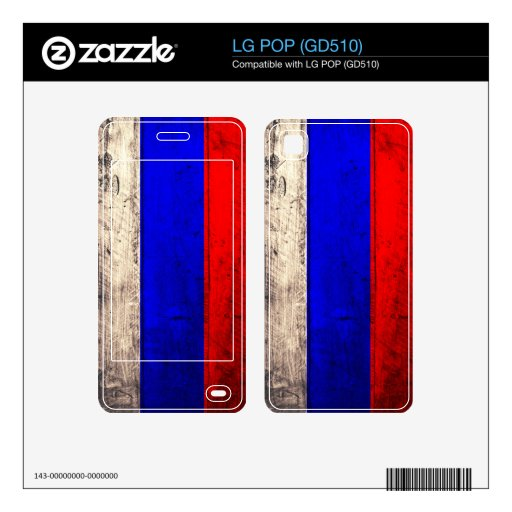Old Wooden Russia Flag; Skin For The LG POP