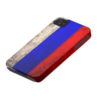 Old Wooden Russian Flag iPhone 4 Covers