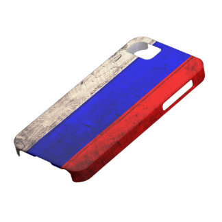 Old Wooden Russian Flag iPhone SE/5/5s Case