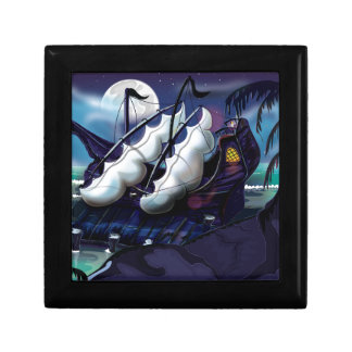 Old Wooden Sail Ship in Dock Gift Box