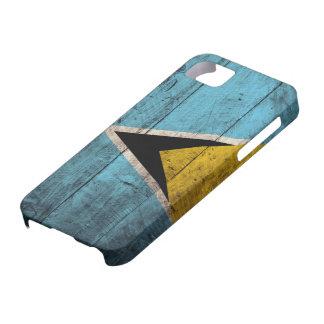 Old Wooden Saint Lucia Flag iPhone SE/5/5s Case