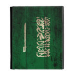 Old Wooden Saudi Arabia Flag; iPad Folio Cover