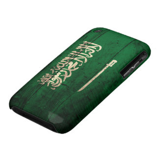 Old Wooden Saudi Flag iPhone 3 Case-Mate Case