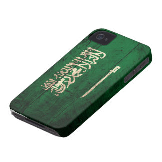 Old Wooden Saudi Flag iPhone 4 Case