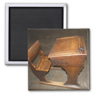 Old  Wooden School Desk and Chair Magnet