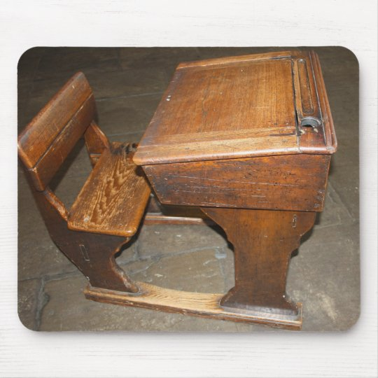 Old Wooden School Desk and Chair Mouse Pad - Old Wooden School Desk And Chair Mouse Pad Zazzle.com