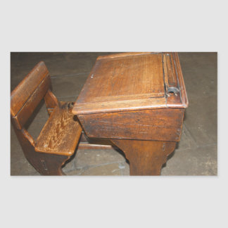 Old  Wooden School Desk and Chair Stickers