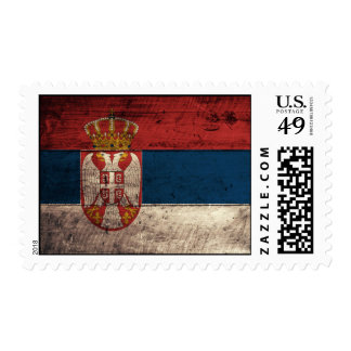 Old Wooden Serbia Flag Postage