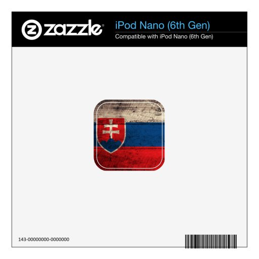 Old Wooden Slovakia Flag; Decal For iPod Nano 6G