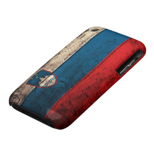 Old Wooden Slovenia Flag Case-Mate iPhone 3 Case