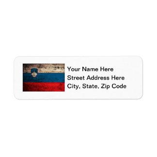 Old Wooden Slovenia Flag Return Address Labels