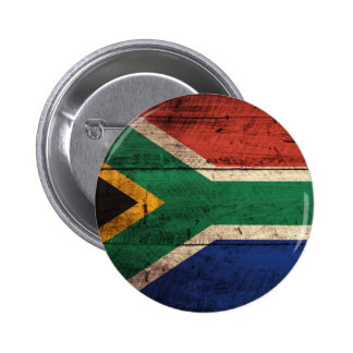 Old Wooden South Africa Flag Buttons