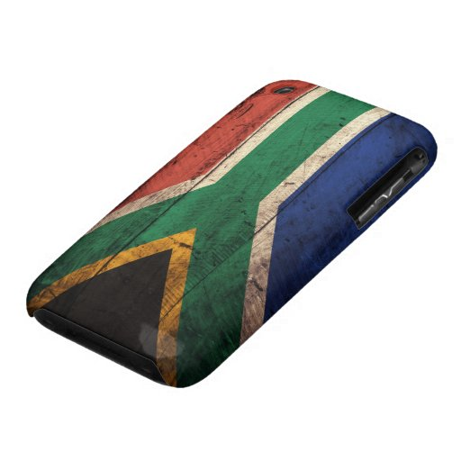 Old Wooden South Africa Flag iPhone 3 Case-Mate Case