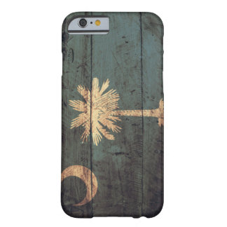 Old Wooden South Carolina Flag; Barely There iPhone 6 Case