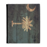 Old Wooden South Carolina Flag; iPad Folio Case